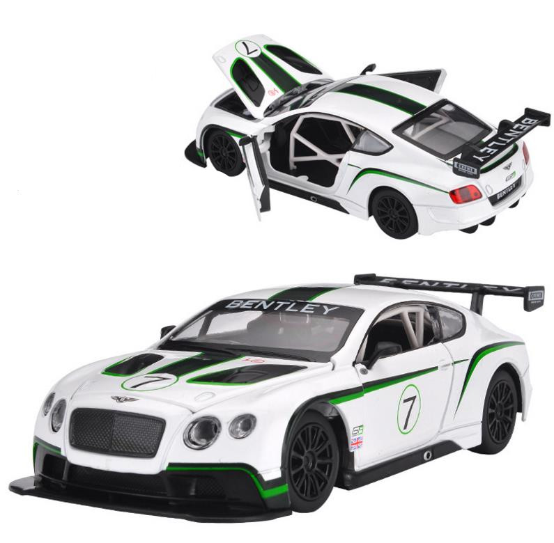 Free shipping 1:24 alloy pull back car toy diecasts metal model toy vehicle sound&light collection model Bentley Continental GT3