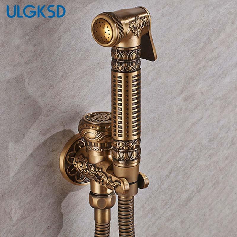 ULGKSD Bathroom Faucet Washing Machine Bidet Replacement Spout Antique Brass Wall Mounted Sprayer Nozzle the nozzle for electrolux washing machine zanussi aeg batcher tank