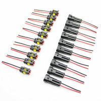 10Sets 2 Pin Car Motorcycle Waterproof Electrical Connector Plug With Wire AWG