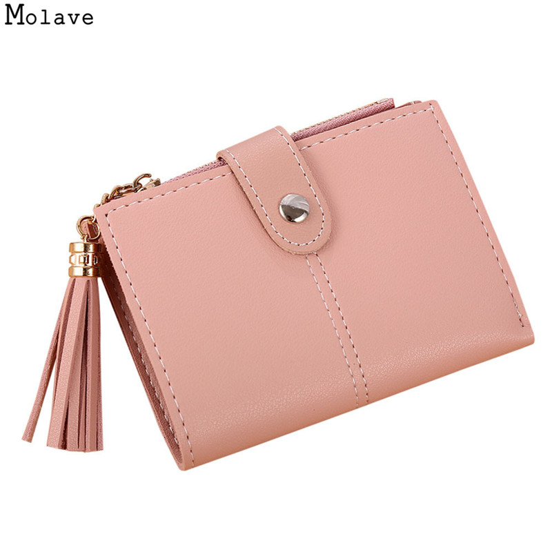New Nubuck Leather Women Short Wallets Ladies Fashion Small Tassel Wallet Coin Purse Female Card Wallet Purses Money Bag OC16 new fashion luxury brand women wallets owl leather wallet female cartoon coin purse wallet women animal wristlet money bag small