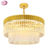 Youlaike Luxury Modern Crystal Chandelier For Living Room High Quality Foyer Hanging Gold Lighting Fixtures