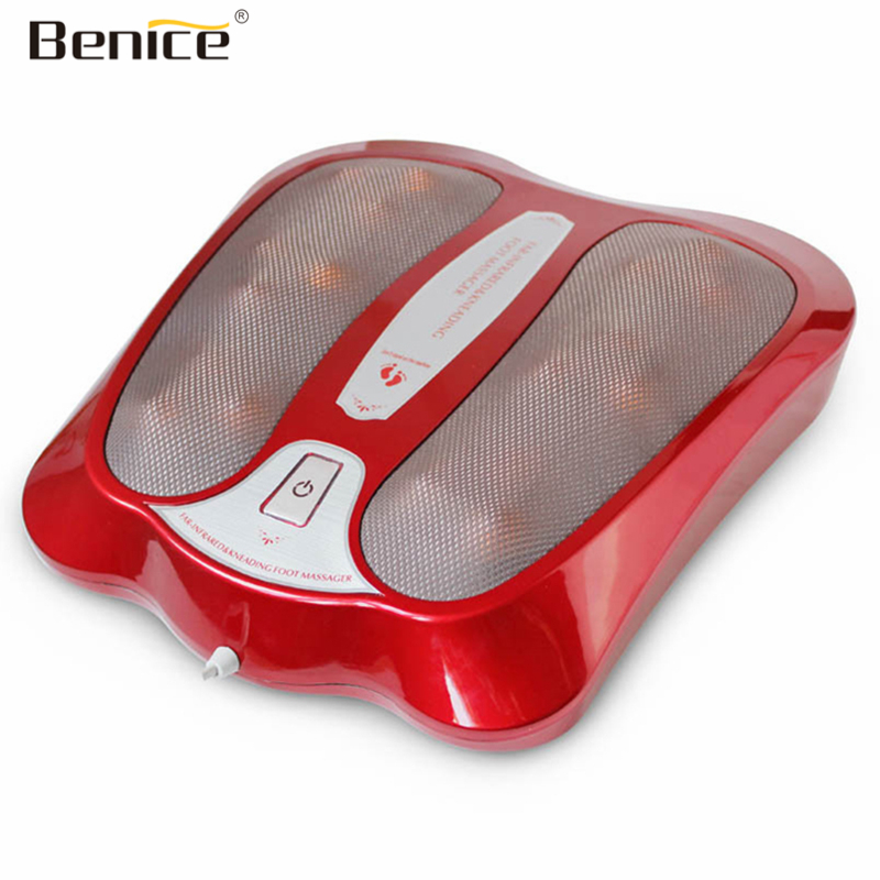 все цены на Benice Foot Reflexology Electric Vibrating Kneading Foot Massage Infrared Heat Therapy Relax Blood Circulate Warm Feet Massager онлайн