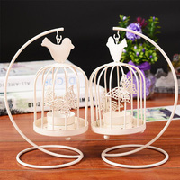 White Birdcage Butterfly Candlestick Romantic Candle Holder Dinner Restaurant Home Decoration Creative Candlestick High Quality
