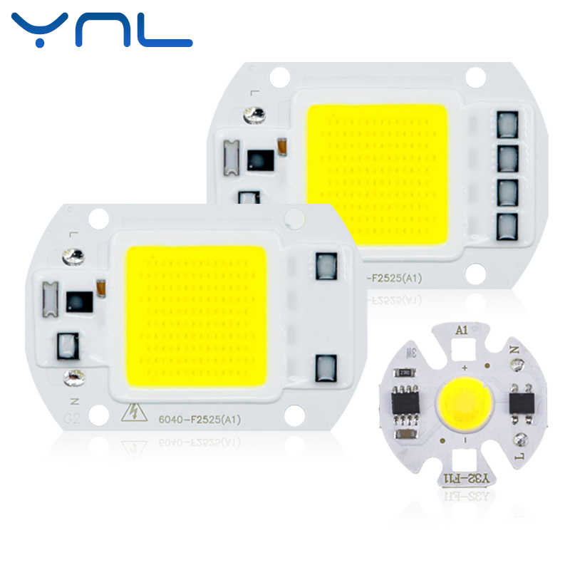 Real Power LED COB Chip 20W 30W 50W LED Lamp Bulb 220V 240V Input IP65 Smart IC For DIY Outdoor LED Flood Light chips