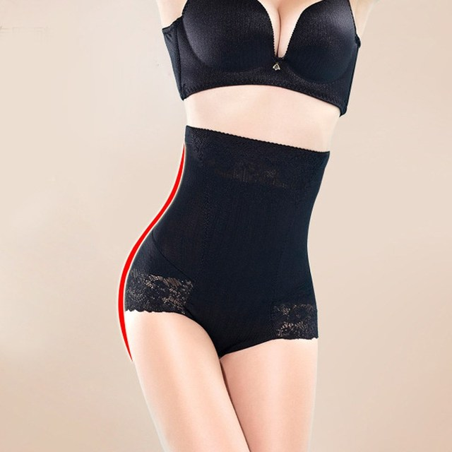7e1ec6154 Women High Waist Shapewear Seamless Slimming Shaper Sexy Lace Belly Hip Control  Butt Lift Tummy Control