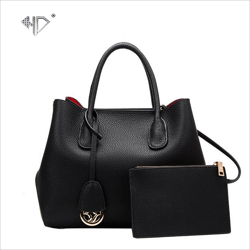 ФОТО HD Brand 2017 Spring Top Quality Women Handbags Saffiano Genuine Leather Messenger Bags set Solid Tote Casual Bolsas Bags