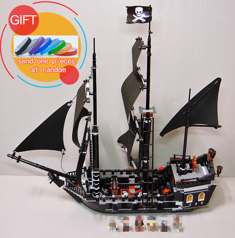 16006 804pcs Pirates of the Caribbean The Black Pearl Building Blocks Set 4184 Educational Boy Toys lepin lepin 16006 804pcs pirates of the caribbean black pearl building blocks bricks set the figures compatible with lifee toys gift