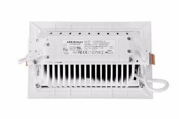 DHL Ücretsiz Kargo 2 Adet/grup 50 W Kapalı LED Projektör Yüksek Kaliteli 50 W Dikdörtgen Led Downlight Döndür Açısı AC110-260V