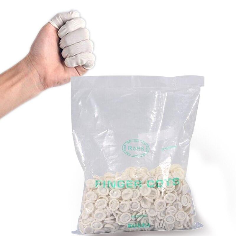 Jednorázové měřítko Finger Sets Cots Zubní laboratorní vybavení O 750 ks / balení Gumové latexové rukavice