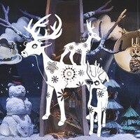 جديد عيد منزل الديكور الأيائل نافذة ملصقات الحائط للأطفال غرفة صائق الحائط القابل عيد الميلاد مهرجان ديكور المنزل