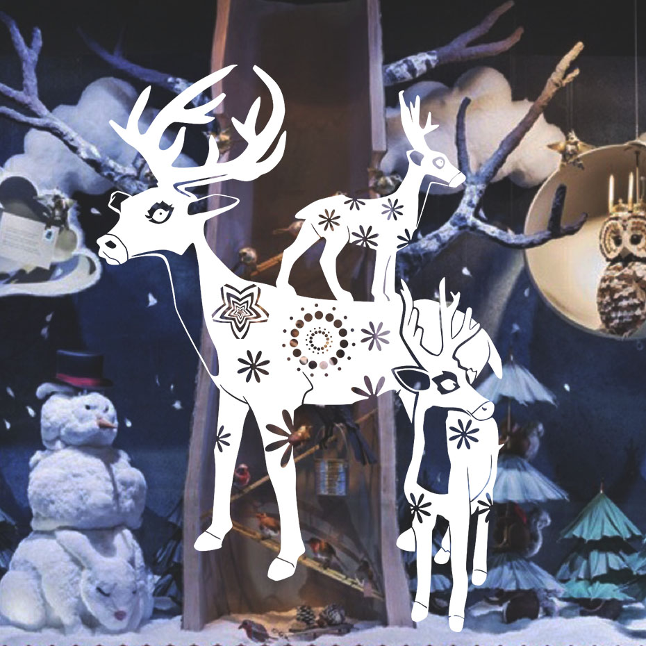 New Christmas Home Decoration Deers Wall Stickers <font><b>For</b></font> Kids Room Removable Wall <font><b>Decal</b></font> Window Xmas Christmas Festival Home Decor