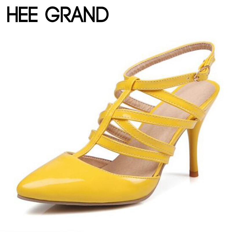 HEE GRAND 2017 Gladiator Sandals Sexy Thin High Heels Pointed Toe Summer Casual Shoes Woman OL Pumps Women Wedding Shoes XWZ3401 цены онлайн