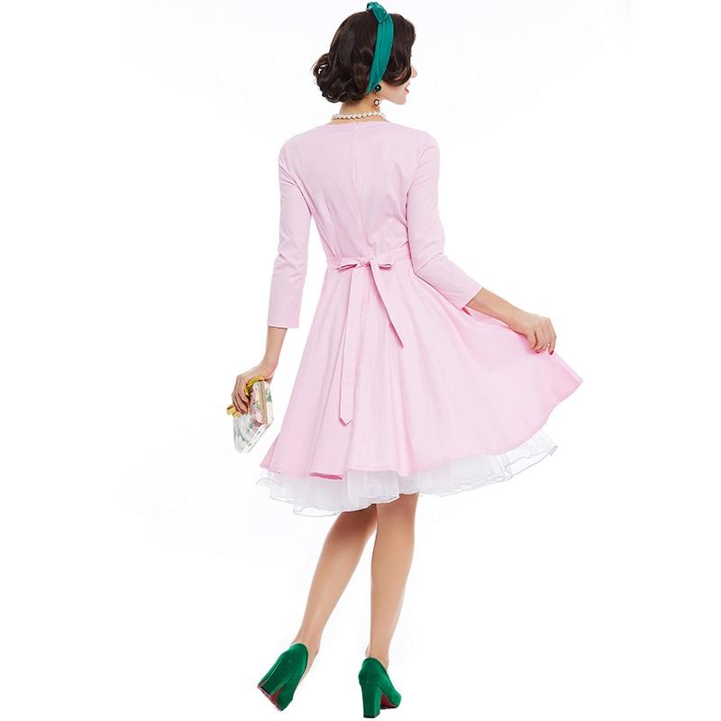 Sisjuly vintage vestidos de encaje de lujo mujeres pin up vestido ...