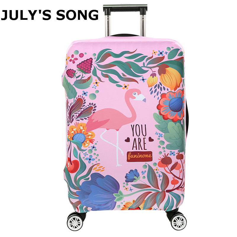Flamingo Pattern 18-32inch Case Cover Travel Suitcase Protective Cover Bags Dust Luggage Case for Women Girl Fashion Covers girl holding flowers pattern protective plastic back case for iphone 5 white yellow