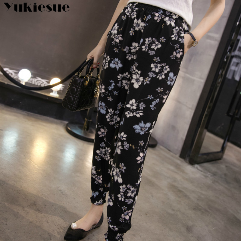 streetwear Bohemia women's pants capris with high waist summer harem pants for women trousers woman pants female Plus size