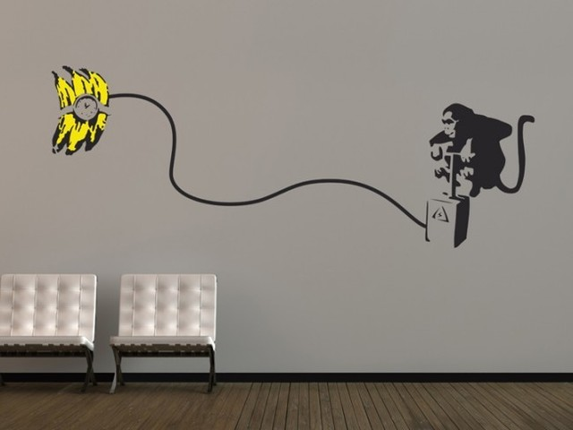 Aliexpresscom Buy Banksy Monkey Bomb Vinyl Wall Sticker Wall - Vinyl stickers designaliexpresscombuy eyes new design vinyl wall stickers eye wall