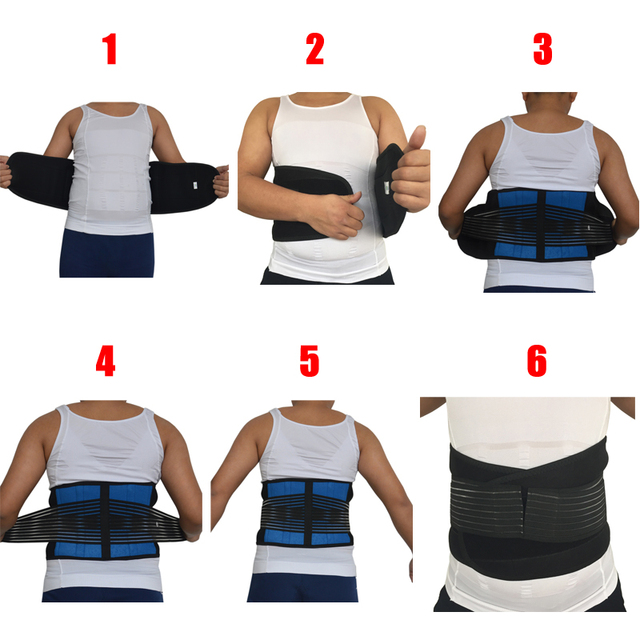 Neoprene Sports Waist Posture Corrector Belt Lumbar Support Back Brace Household Pressurized Disc Herniation Tummy Trimmer Belt 2