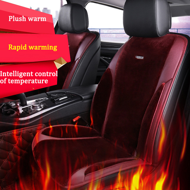 12V 24V Winter Car Heated Seats Cushion Universal Warmth Seat Covers For BMW