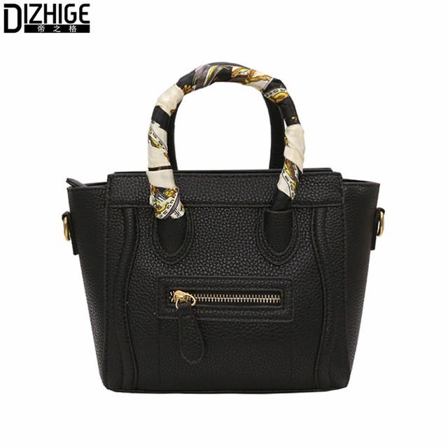 New Smile Face Women Handbags Fashion Scarves Crossbody Bags Famous Brand Designer Handbags High Quality 2017 Sac A Main Femme