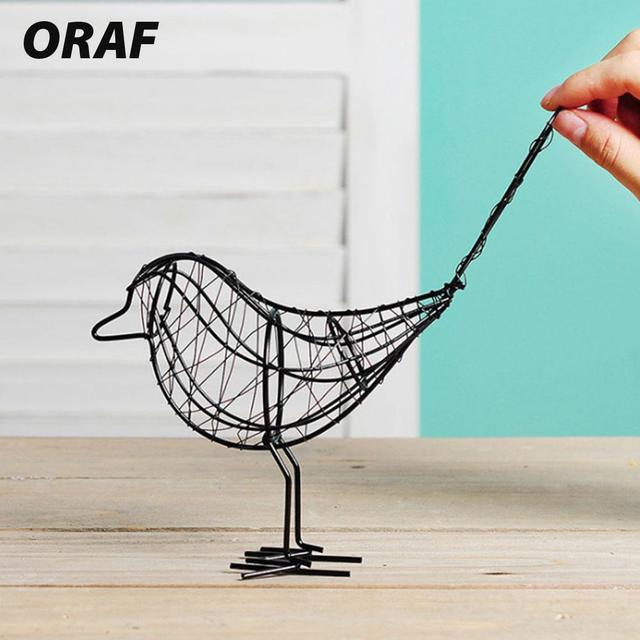 Metal Iron Wire Bird Hollow Model Artificial Craft Fashionable Home Furnishing Table Desk Ornaments Decoration Gift Drop Shiping 2