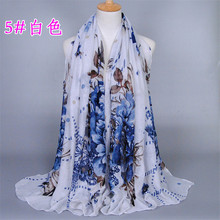 High quality fashion women's yarn scarf shawl scarves sunscreen Material peony ethnic scarves Baotou 180-90CM