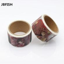 Купить Jbfish высокое качество Васи бумажная лента/красивые косу девушка и шарф для девочек маскирования Япония васи ленты 9009