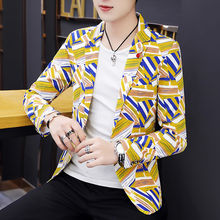 Мужская повседневная короткая куртка в Корейском стиле на весну