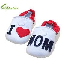 Amo a la mamá, amo al papá del bebé zapatos de suela suave primeros caminante Toddlers moda Sneakers resbalón en envío de caída libre