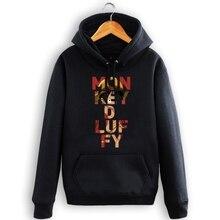 High-Q Unisex cotton ONE PIECE Monkey D Luffy pullover hoodie Hoodie cartoon ONE PIECE Monkey D Luffy Hoodies coat jacket