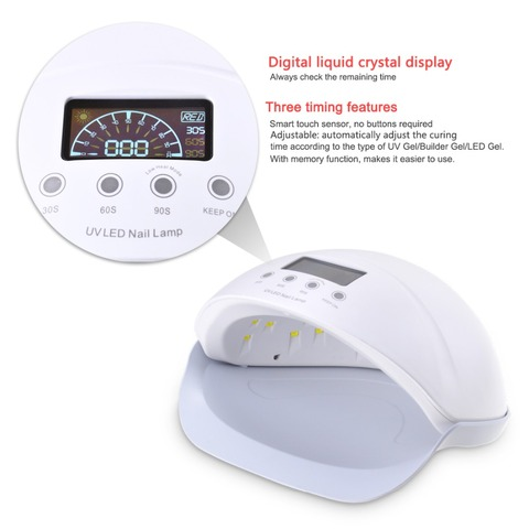 72/54/48/36W UV LED Nail Lamp For Manicure Nail Dryer For All Gels Polish With Automatic Sensor Smart Temperature Control Lahore