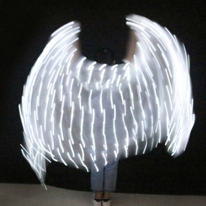 Image 5 - Belly Dance LED Veil 100% ผ้าไหม4สีBelly Dance Stage Performance Props Belly Dance LEDผ้าไหมVeils 5ขนาด1Pc