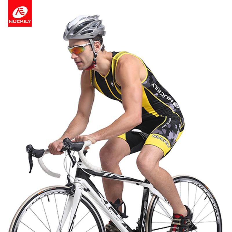 Марка nuckily Велоспорт скафандр велосипед одежда лето без рукавов мягкий Триатлон костюм для мужчин MQ001-3