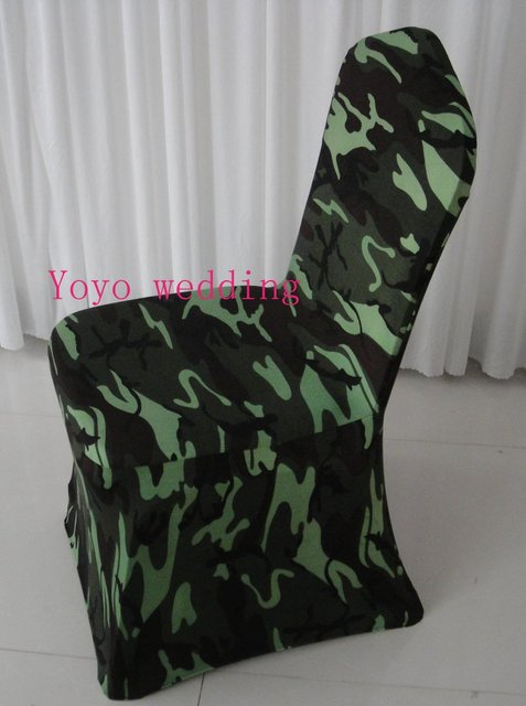 Camouflage Printing Polyester With Shine Spandex Chair Covers