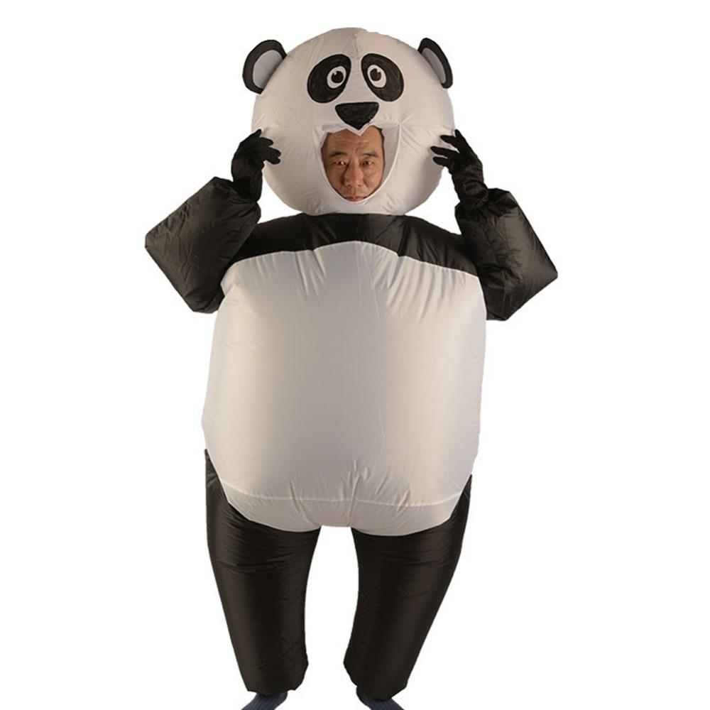 Надувные костюмы, надувной костюм панды для взрослых, Карнавальный костюм для рождественской вечеринки, комбинезон