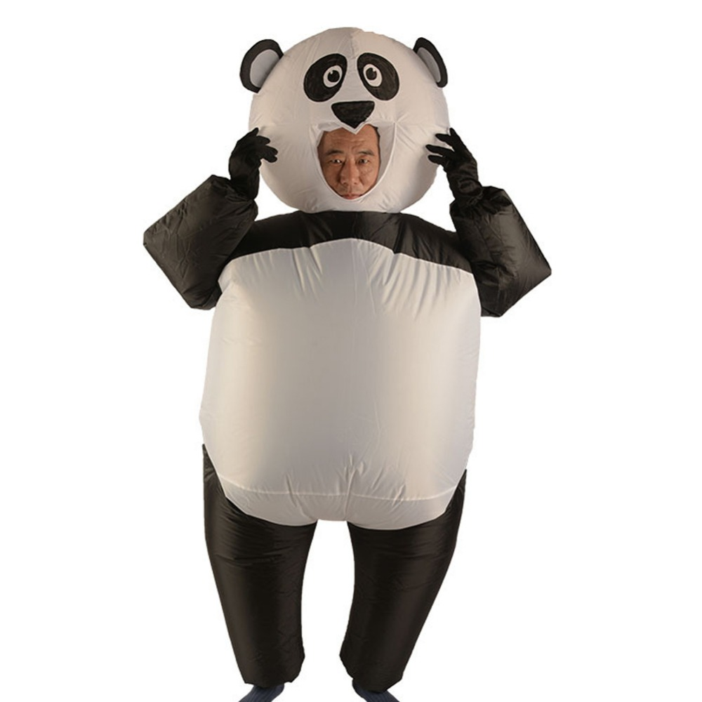 Inflatable Suits Blow Up Full Body Adult Panda Inflatable Costume Christmas Party Cosplay Costume Jumpsuit