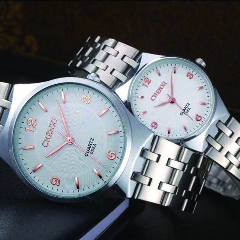 Brand Watches Men Business Quartz Watch Fashion Casual Lover Watches Full Steel Women 30m Waterproof Couple Wristwatches