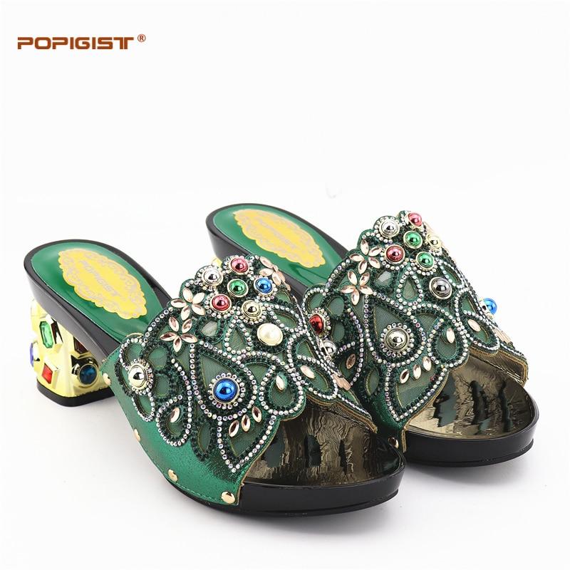 Et Le Africains Pierres Strass Talons green Ensemble Pour Vert Des Assorti Chaussures gold royal Décoré Blue Partie Sac Mariage Avec Grand Black wPaZqOpp