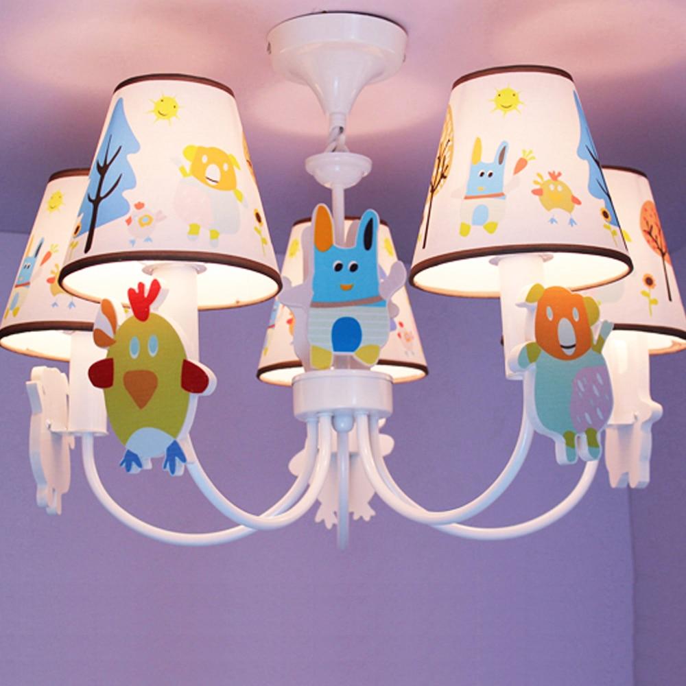 New Kids Room Led Pink Chandelier Cartoon Led Chandelier Ceiling 110V 220V Led Chandeliers Home Lighting
