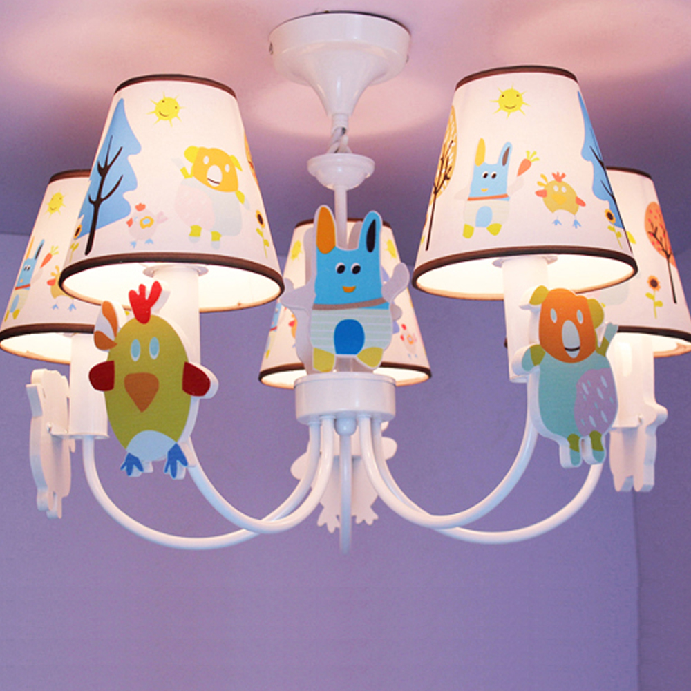 New Kids Room Led Pink Chandelier Cartoon Led Chandelier Ceiling 110V-220V Led Chandeliers Home Lighting Lamp hghomeart kids room cartoon led chandelier flower lustre led 110v 220v e14 led chandeliers home lighting chandelier baby