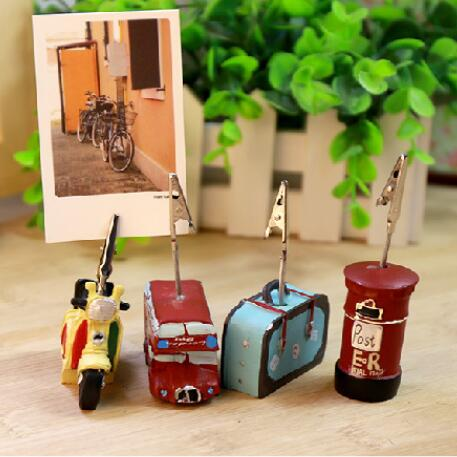 2019 Vintage Metal Paper Message Card Clips Holder Wedding Party Photo Stand Clip Holder Desk Decorative Gadget Stationery