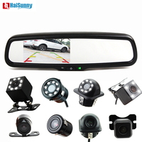 HaiSunny 4.3 Car Rear View Mirror Monitor With a special Bracket Auto LED Reverse Camera For Parking Assistance
