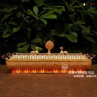 Product Tibetan Buddhism eight auspicious vaporizer cloisonne painting Falun Deer lying incense incense box line 32cm