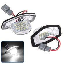 2x безошибочный светодиодный светильник номерного знака для Honda Crv Fit Jazz Crosstour Odyssey
