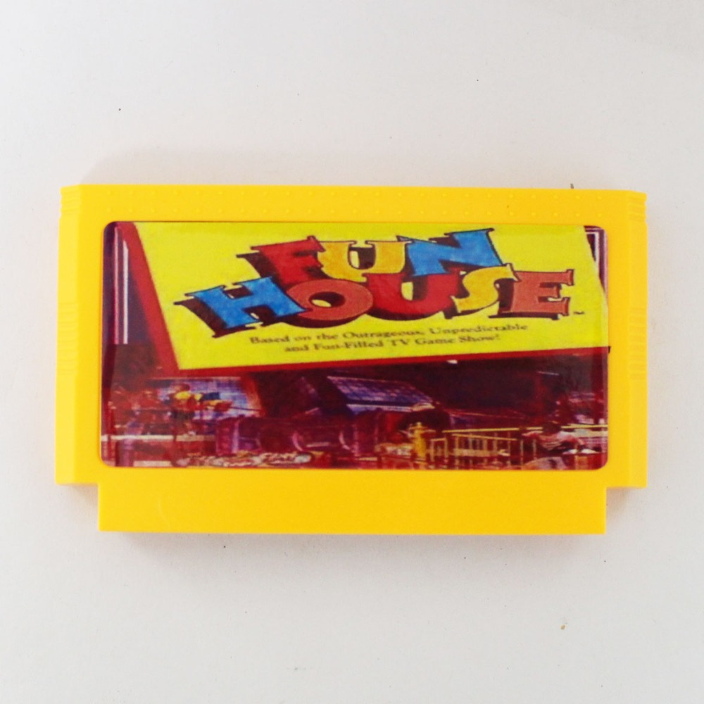 Fun House 60 Pin Game Card For 8 Bit Subor Game Player