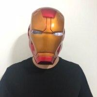 New Anime Avengers Endgame Iron Man Cosplay Props Full Face LED Helmet PVC Masks Thanos Infinity Gauntlet Gloves Halloween Party