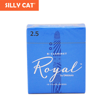 French Cut for RICO Royal Original Blue Box Bb Clarinet Reeds Classical Pop for Beginner Practice original france vandoren bass clarinet traditional reeds cr1225 cr123 strength 2 5 3 0 box of 5 [free shipping]