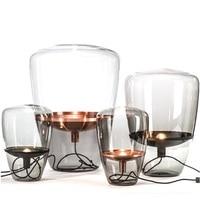 스웨덴 디자인 플로어 램프 유리 그늘 40 cm/60 cm 높이