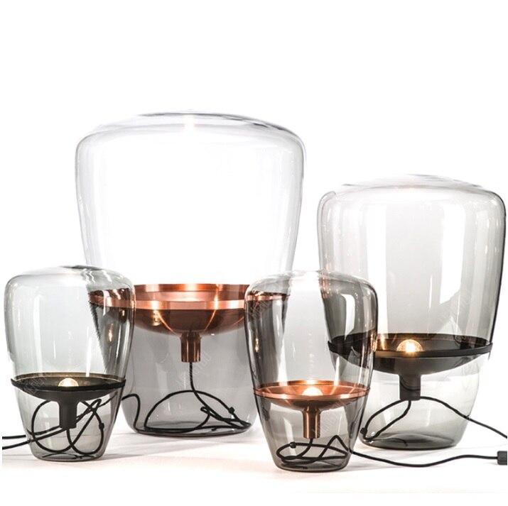 Schweden Design Stehleuchte mit Glasschirm 40 cm/60 cm Höhe-in Schreibtischlampen aus Licht & Beleuchtung bei title=