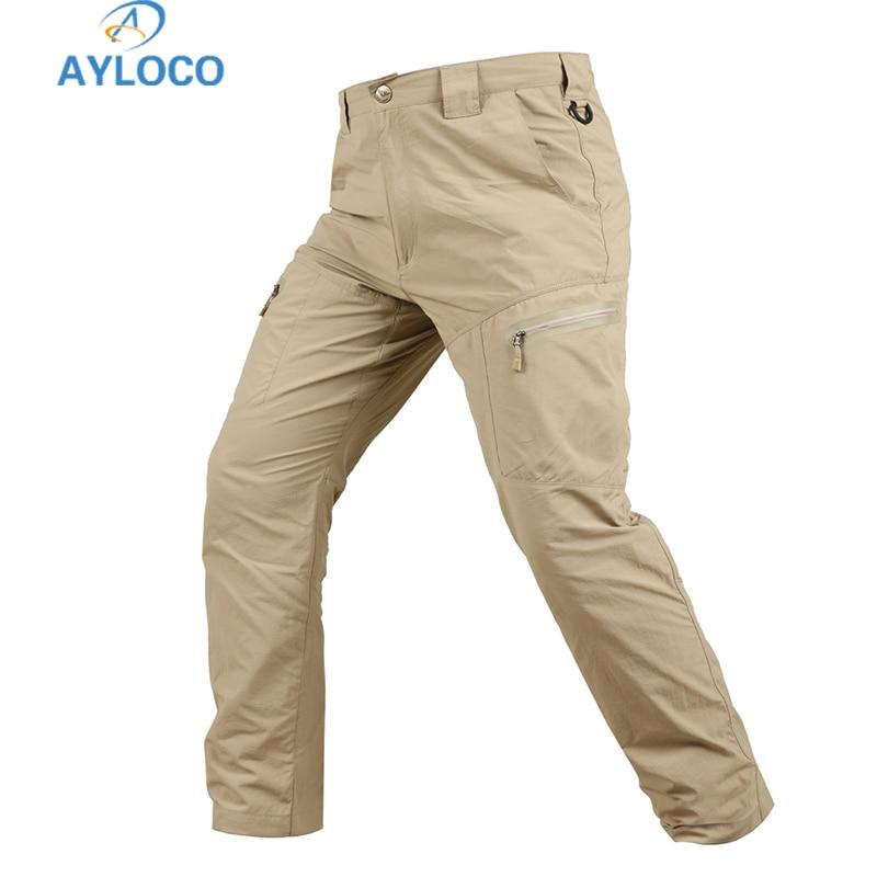 Aspirante Pantaloni Militari Tattici Tattico Cargo Pant Uomo Quick-dry Leggero Pantaloni Stile Militare Multi-tasche Swat Combattimento Pantaloni Materiali Superiori