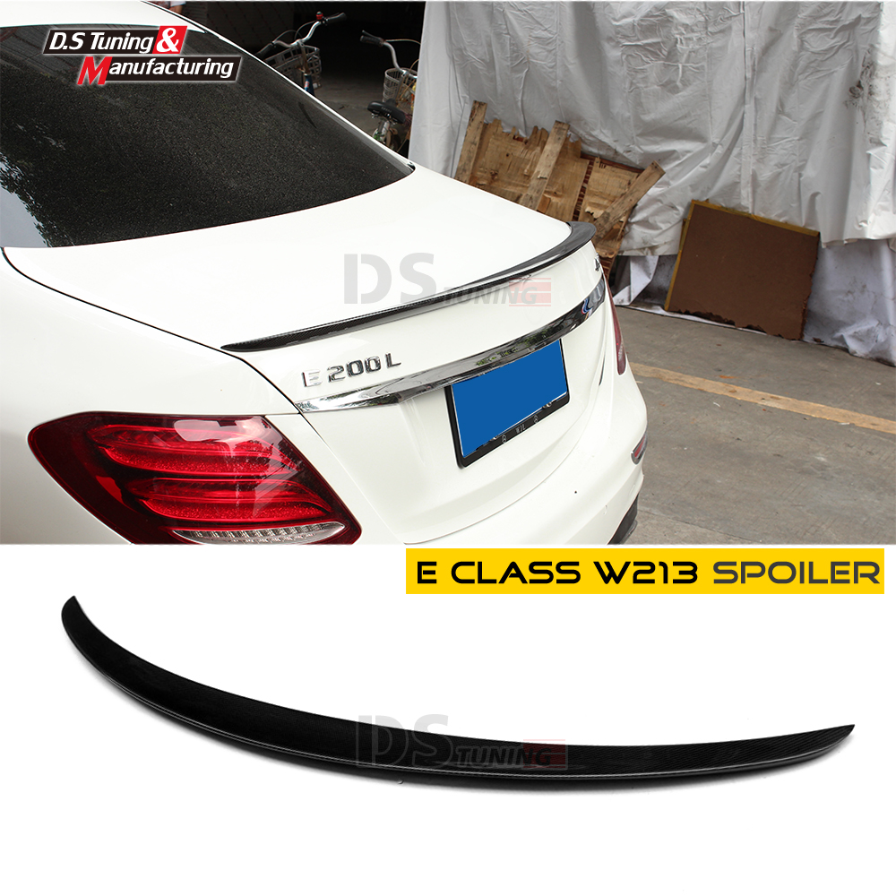 Carbon Fiber Rear Spoiler Tail Wing for Mercedes E Class W213 2016 - Present 4-Door Sedan